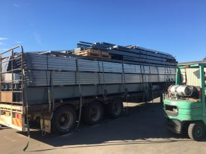Truck Loaded Heading To Visy Pulp Commercial Shed Build at Tumut NSW